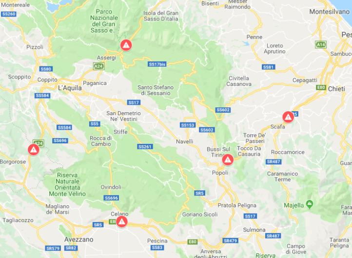 Mappa Ponti e Viadotti a Rischio - Abruzzo A24-A25.PNG