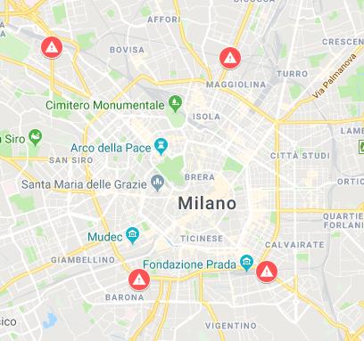 Mappa Ponti e Viadotti a Rischio - Milano.PNG