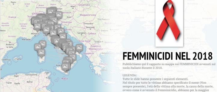 StoryMap - Femminicidi 2018